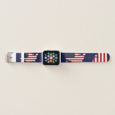 USA Themed USA Map Apple Watch Band