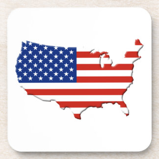 USA map Beverage Coaster