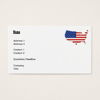 USA map Business Card