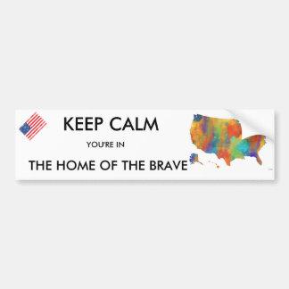 USA MAP - Car Bumper Sticker