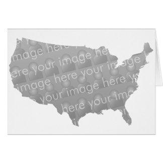 USA Map Card Design