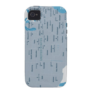 USA Map iPhone 4/4S Case