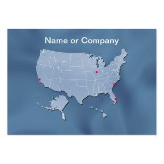 USA map, customizable! Business Cards