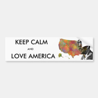 USA MAP featuring JFK Car Bumper Sticker