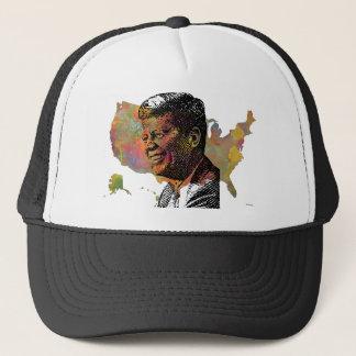 USA MAP featuring JFK Trucker Hat
