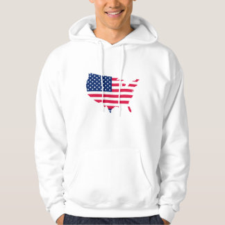USA map flag 4th of July, Independence Day Hoodie