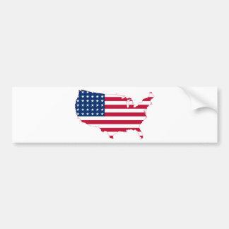 USA Map flag Bumper Sticker