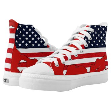 USA Themed USA Map High-Top Sneakers