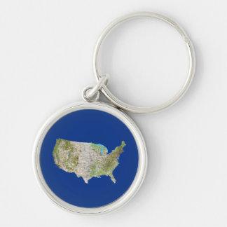 USA Map Keychain