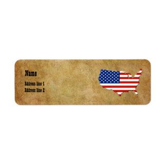 USA map Label