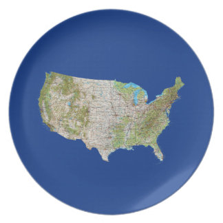 USA Map Plate