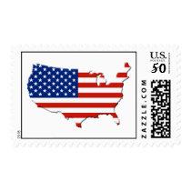 USA map Postage