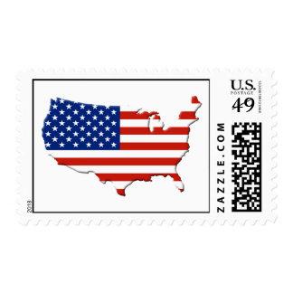 USA map Postage Stamp