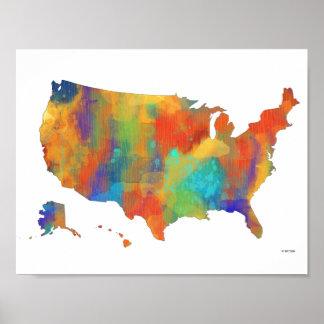 USA MAP - Poster
