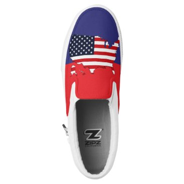 USA Themed USA Map Slip-On Sneakers