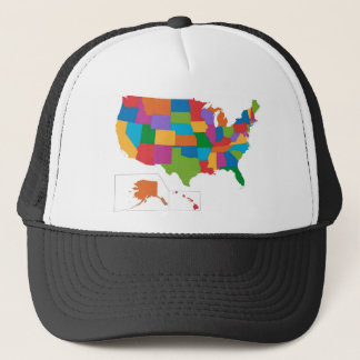 USA map Trucker Hat
