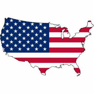 Usa Map, United States flag Statuette