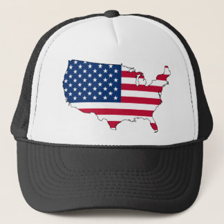 Usa Map, United States flag Trucker Hat
