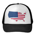 Usa Map, United States flag Trucker Hat