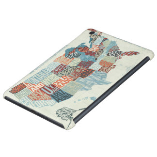 USA Map with States in Words iPad Mini Retina Case