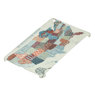USA Map with States in Words iPad Mini Covers