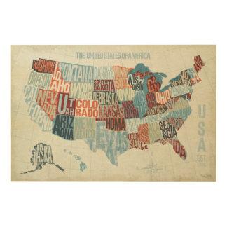 Usa Map Wood Wall Art Zazzle - Us map wall art