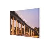 USA, Maryland, Annapolis. Severn River bidge, Stretched Canvas Print