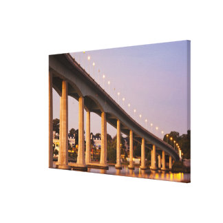 USA, Maryland, Annapolis. Severn River bidge, Canvas Print