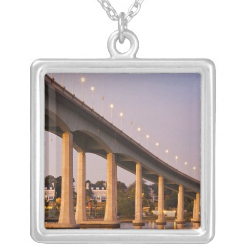 USA, Maryland, Annapolis. Severn River bidge, Necklace