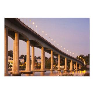 USA, Maryland, Annapolis. Severn River bidge, Photo Print