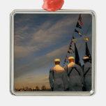 USA, Massachusettes, Boston. US Navy Color Square Metal Christmas Ornament
