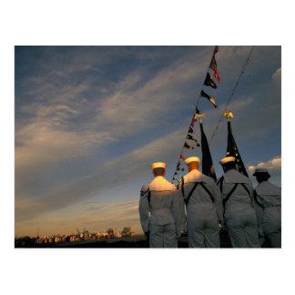 USA, Massachusettes, Boston. US Navy Color Postcard