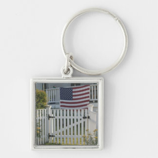 USA, Massachusettes, Gloucester: Patriotic Fence Key Chain