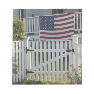 USA, Massachusettes, Gloucester: Patriotic Fence Notepad