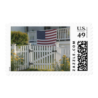 USA, Massachusettes, Gloucester: Patriotic Fence Postage