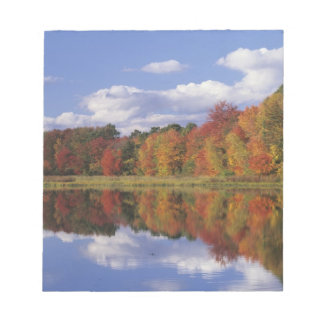 USA, Massachusetts, Acton. Reflection of autumn Notepad