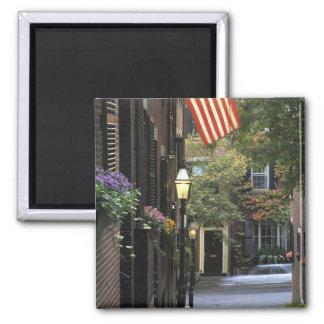 USA, Massachusetts, Boston, Beacon Hill. 2 Inch Square Magnet
