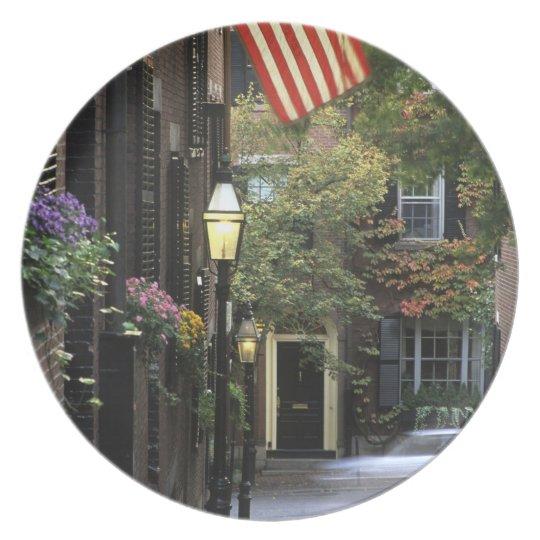 USA, Massachusetts, Boston, Beacon Hill. Dinner Plate