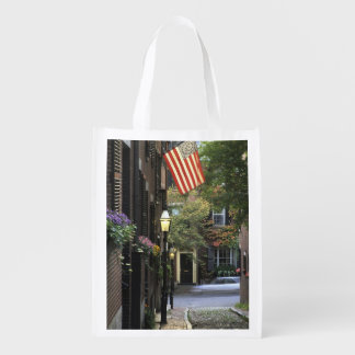 USA, Massachusetts, Boston, Beacon Hill. Grocery Bags