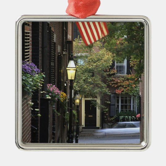 USA, Massachusetts, Boston, Beacon Hill. Metal Ornament