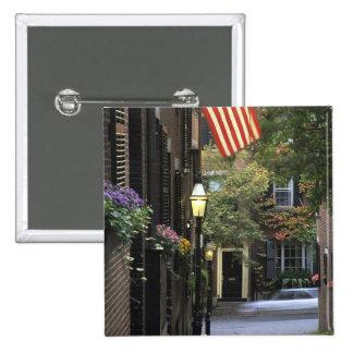USA, Massachusetts, Boston, Beacon Hill. Pinback Button