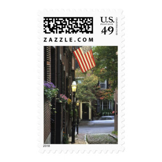 USA, Massachusetts, Boston, Beacon Hill. Postage Stamp