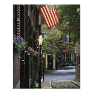 USA, Massachusetts, Boston, Beacon Hill. Poster