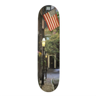 USA, Massachusetts, Boston, Beacon Hill. Skateboard