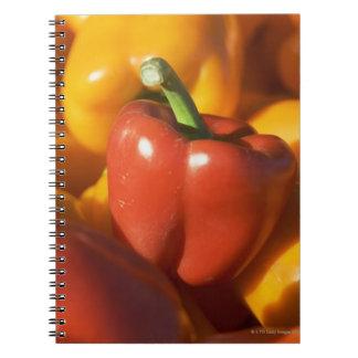 USA, Massachusetts, Boston, bell peppers Spiral Notebook