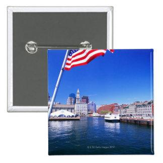 USA, Massachusetts, Boston, Boston harbour, Button