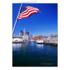 USA, Massachusetts, Boston, Boston harbour, Card