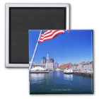 USA, Massachusetts, Boston, Boston harbour, Magnet