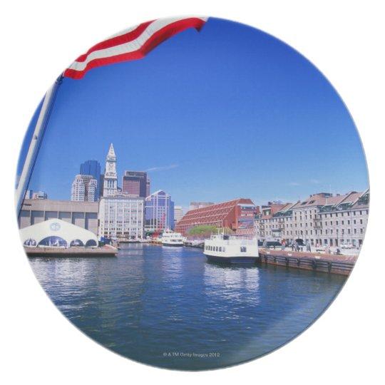 USA, Massachusetts, Boston, Boston harbour, Melamine Plate