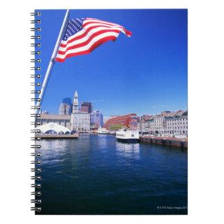 USA, Massachusetts, Boston, Boston harbour, Notebook